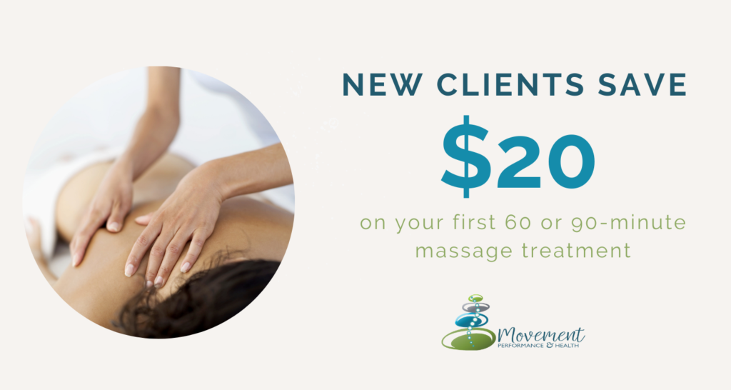 Calgary Massage Offer new clients save on first massage treatment $20