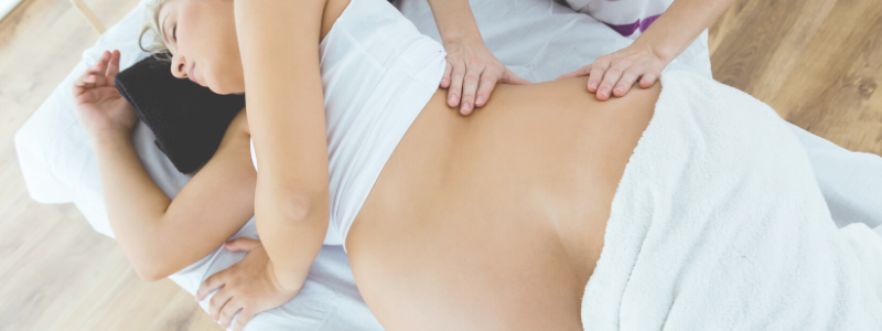 relax with a prenatal massage treatment