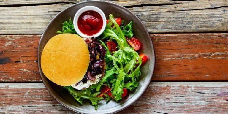Strawberry Basil Balsamic Burger from Registered Dietitian